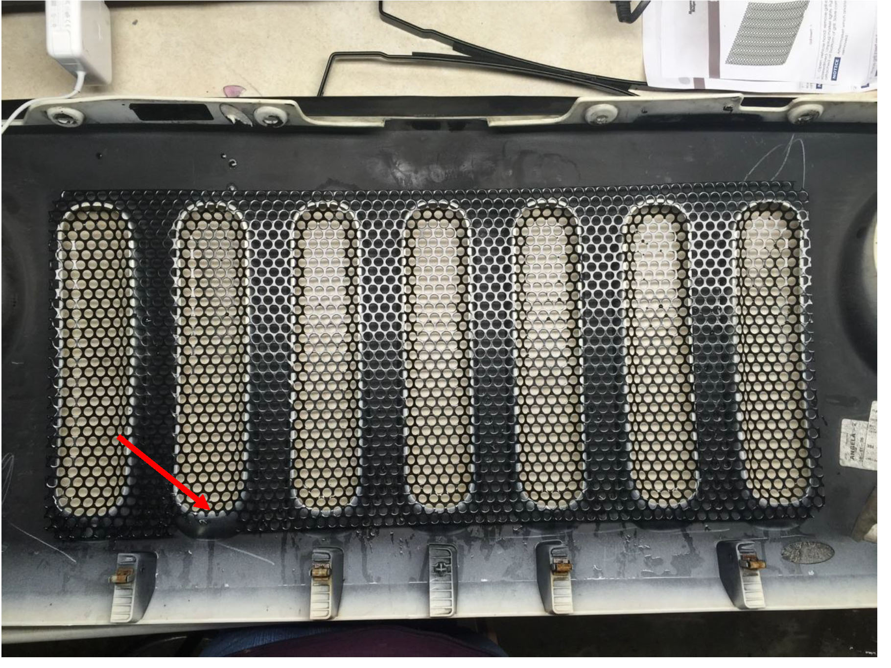 Perforated Lay In Grille : How to install rugged ridge perforated grille insert in